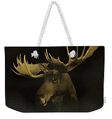 Weekender Tote Bag featuring the digital art The Moose by Ernie Echols