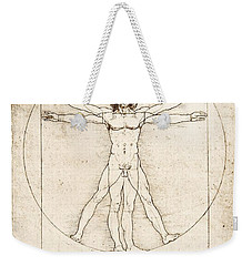 The Proportions Of The Human Figure Weekender Tote Bag by Leonardo Da Vinci