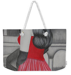 The Red Dress Weekender Tote Bag