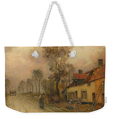 Weekender Tote Bag featuring the painting The Route Nationale At Samer by Jean-Charles Cazin