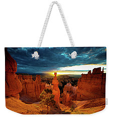 Weekender Tote Bag featuring the photograph Thor's Hammer by Norman Hall