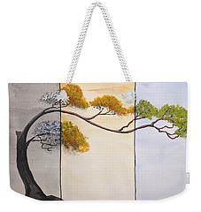 Weekender Tote Bag featuring the painting Time After Time by Edwin Alverio