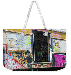Weekender Tote Bag featuring the photograph Train Art by Dart and Suze Humeston