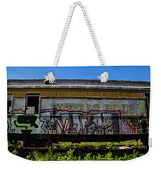 Weekender Tote Bag featuring the photograph Train Art by Dart Humeston