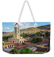 Weekender Tote Bag featuring the photograph Trinidad Cuba Cityscape II by Joan Carroll