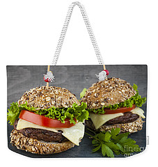 Two Gourmet Hamburgers Weekender Tote Bag by Elena Elisseeva