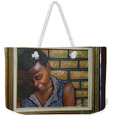 Weekender Tote Bag featuring the painting Untitled by Alga Washington