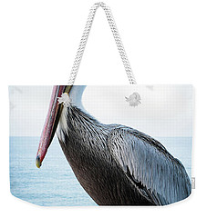 Portrait Of A Pelican Weekender Tote Bag by Catherine Lau