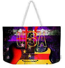 Red Usa Flag Guitar  Weekender Tote Bag