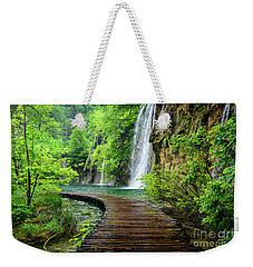 Walking Through Waterfalls - Plitvice Lakes National Park, Croatia Weekender Tote Bag