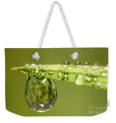 Water Drops On The Grass Weekender Tote Bag