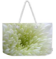 White Chrysanthemum Weekender Tote Bag