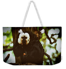 Weekender Tote Bag featuring the photograph White Saki by The 3 Cats