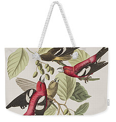 White-winged Crossbill Weekender Tote Bag by John James Audubon