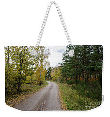 Weekender Tote Bag featuring the photograph Winding Gravel Road by Kennerth and Birgitta Kullman