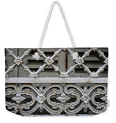 Weekender Tote Bag featuring the photograph Window Grill In Toulouse by Elena Elisseeva