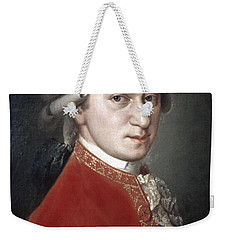 Weekender Tote Bag featuring the photograph Wolfgang Amadeus Mozart by Granger