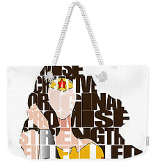 Wonder Woman Inspirational Power And Strength Through Words Weekender Tote Bag