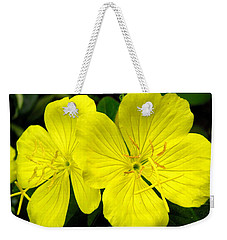 Weekender Tote Bag featuring the photograph Yellow Flowers by Stephanie Moore