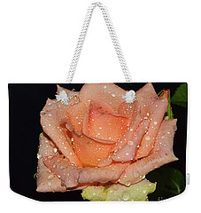 Weekender Tote Bag featuring the photograph Beautiful Rose by Elvira Ladocki
