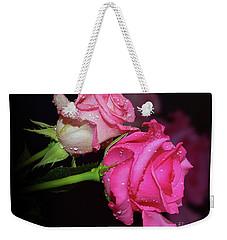 Two Roses Weekender Tote Bag by Elvira Ladocki