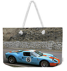 Weekender Tote Bag featuring the photograph 2006 Ford Gt  by Christopher McKenzie