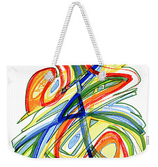 2010 Abstract Drawing Eight Weekender Tote Bag by Lynne Taetzsch