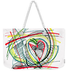 2010 Abstract Drawing Eighteen Weekender Tote Bag by Lynne Taetzsch