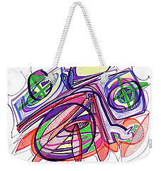 2010 Abstract Drawing Eleven Weekender Tote Bag by Lynne Taetzsch