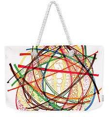 2010 Abstract Drawing Fifteen Weekender Tote Bag by Lynne Taetzsch