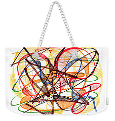 2010 Abstract Drawing Fourteen Weekender Tote Bag by Lynne Taetzsch