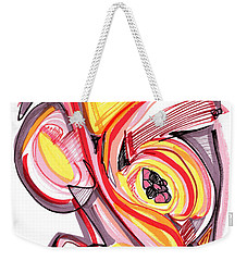 2010 Abstract Drawing Nine Weekender Tote Bag by Lynne Taetzsch