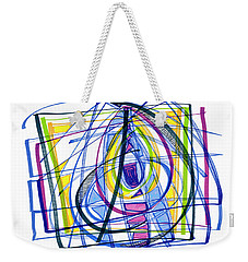 2010 Abstract Drawing Nineteen Weekender Tote Bag by Lynne Taetzsch