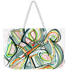 2010 Abstract Drawing Seventeen Weekender Tote Bag by Lynne Taetzsch