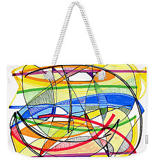 2010 Abstract Drawing Sixteen Weekender Tote Bag by Lynne Taetzsch