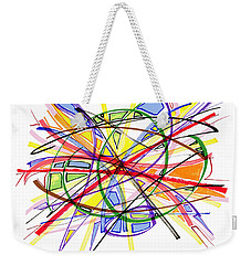 2010 Abstract Drawing Twelve Weekender Tote Bag by Lynne Taetzsch