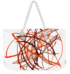 2010 Abstract Drawing Twenty Weekender Tote Bag by Lynne Taetzsch