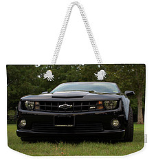 Weekender Tote Bag featuring the photograph 2010 Camaro Ss by Tim McCullough