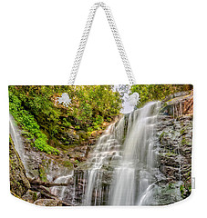Weekender Tote Bag featuring the photograph Rocky Falls by Christopher Holmes