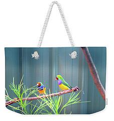 Aussie Rainbow Lovebirds Weekender Tote Bag