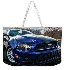 Weekender Tote Bag featuring the photograph 2014 Ford Mustang by Randy Scherkenbach