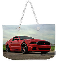 Weekender Tote Bag featuring the photograph 2014 Mustang by Tim McCullough