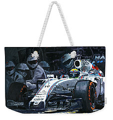 2015 Williams Fw37 F1 Pit Stop Spain Gp Massa  Weekender Tote Bag