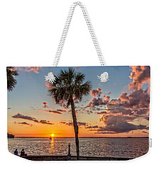 Weekender Tote Bag featuring the photograph Sunset Over Lake Eustis by Christopher Holmes