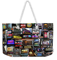 Weekender Tote Bag featuring the photograph 2016 Broadway Fall Collage by Steven Spak