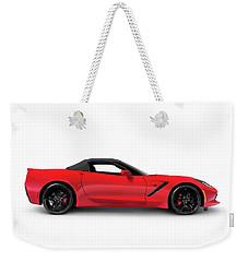 2016 Chevrolet Corvette Stingray Z51 Convertible Side View Weekender Tote Bag
