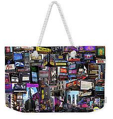 2017 Broadway Spring Collage Weekender Tote Bag by Steven Spak