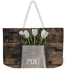 Weekender Tote Bag featuring the photograph 2017 by Kim Hojnacki