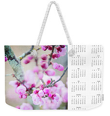 Weekender Tote Bag featuring the photograph 2017 Wall Calendar Cherry Blossoms by Ivy Ho