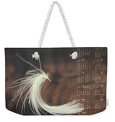 Weekender Tote Bag featuring the photograph 2017 Wall Calendar Feather by Ivy Ho